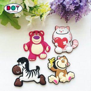 New Design Customized 3D Teddy Bear Cartoon Animal Logo Fridge Magnets