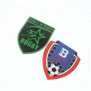 Laser Cut High Density Machine Woven Sport Patches Labels for Garments