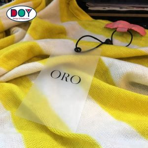 Custom Screen Print Logo Cloth Clear Transparent PVC Plastic Hang Tags