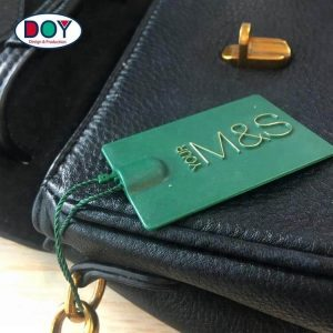Suppliers Custom 3D Embossed Logo Plastic Hang Tag For Clothing