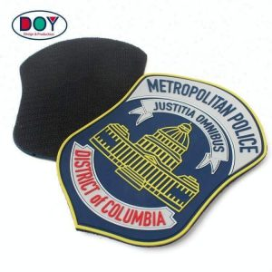 Custom Embossed Name Logo Soft PVC Rubber Uniform Arm Patches