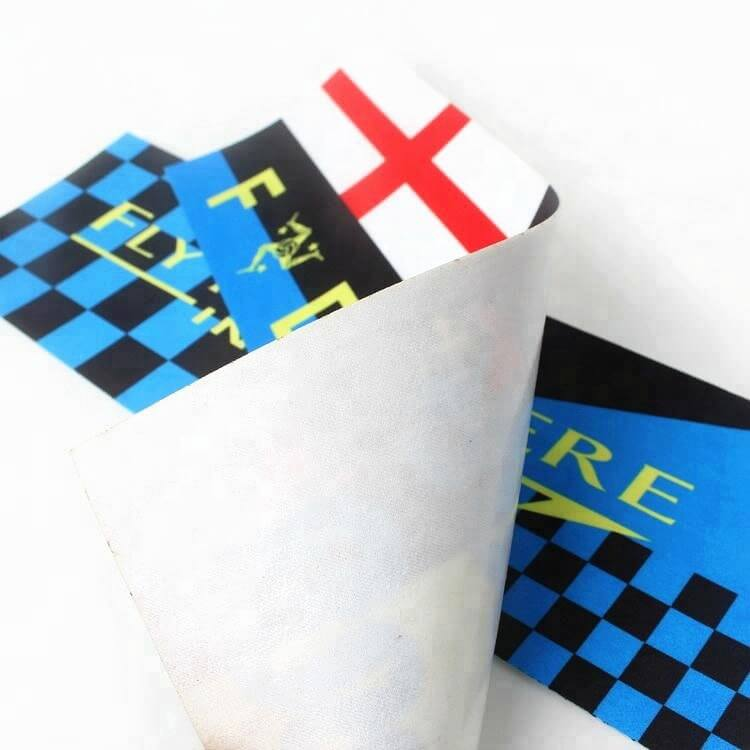 Iron-on Custom Name Club Logo Sublimation Transfer Printed Satin Ribbon Patches Labels for Apparel (2)