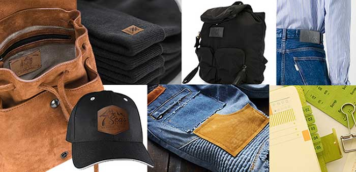 Leather brand products usage