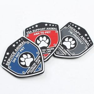 Custom PVC Rubber Logo Patches with Hook and Loop Fastener