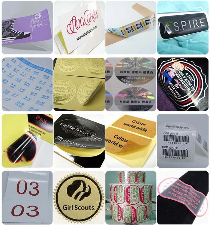 Sticker product samples