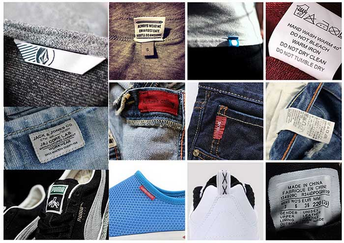 woven label usage