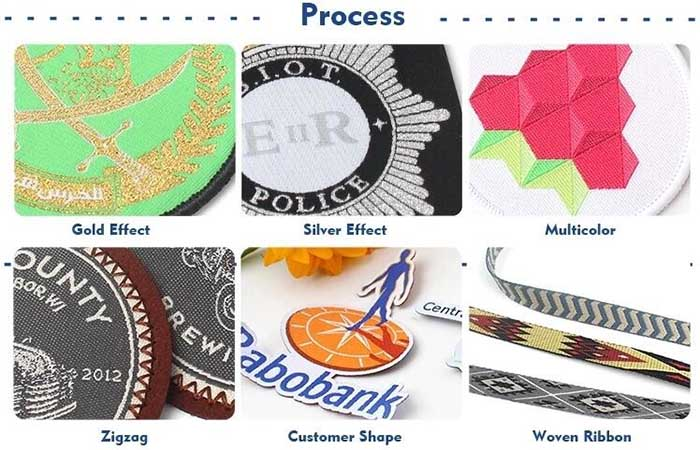 woven patches process