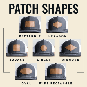Custom Blank Genuine Leather Patches for Hats with Your Customized Ideas