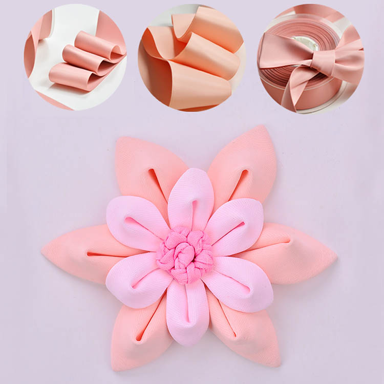 DOYLabel Factory Supply Custom Logo Double Faced Silk Satin Ribbon for Gift