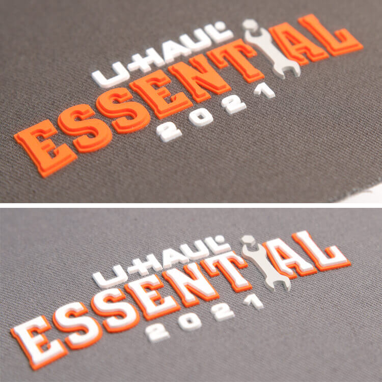 DOYLabel Supply Custom High Quality Soft PVC 3D Rubber Patches Detail