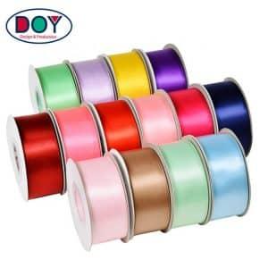 Polyester Custom Logo Color Single/Double Faced Silk Satin Ribbon