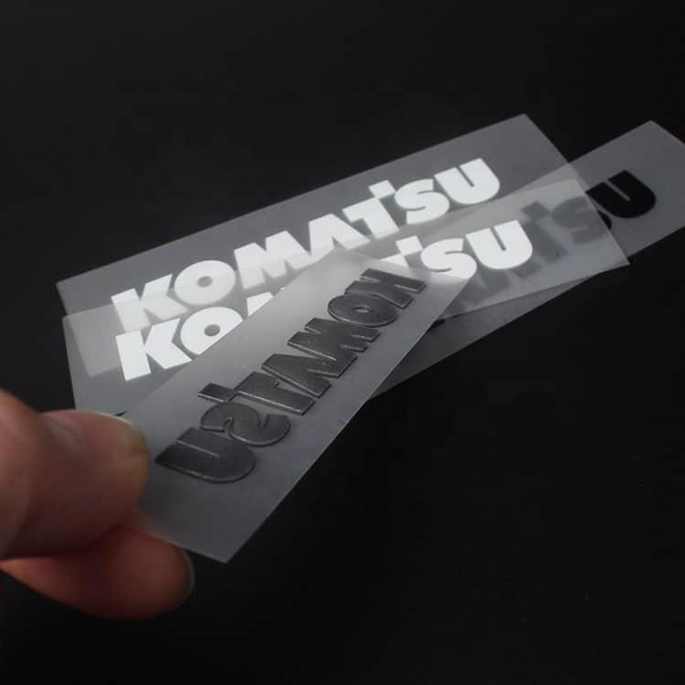 DOYLabel Custom Iron on High Density 3D Silicone Printing Logo Apparel Heat Transfer Labels