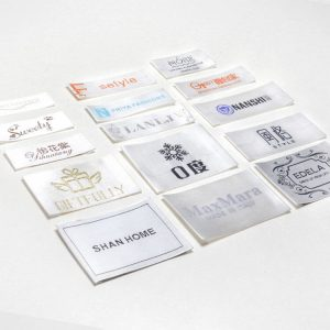 Wholesale Custom Logo Satin Woven Labels for Garment
