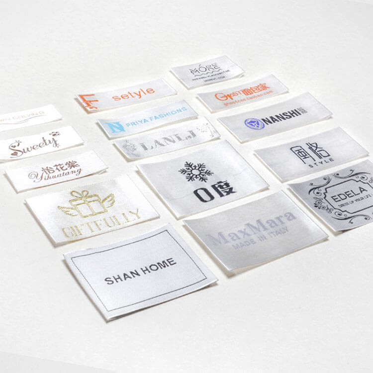 DOYLabel Manufacturing Custom Logo Satin Woven Labels for Garment