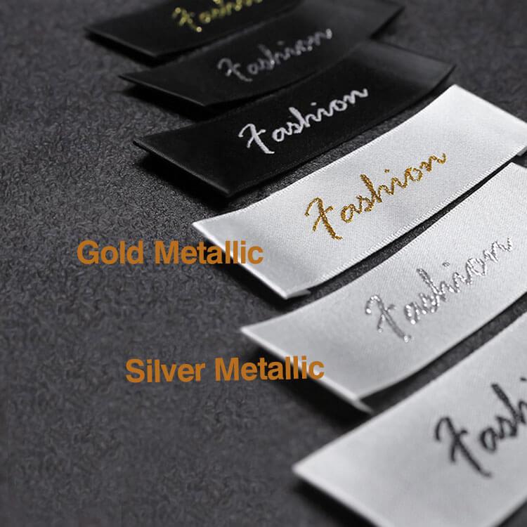 DOYLabel Wholesale Custom Logo Satin Woven Labels for Garment