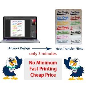 No Minimum Fast Printing Cheap Plastisol Heat Transfer for T-shirt