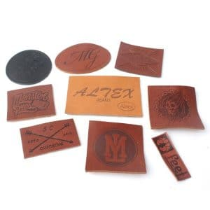 Wholesale Custom Logo Genuine Leather Labels for Hats