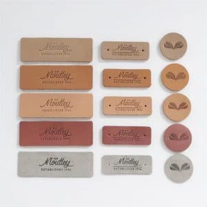 Wholesale Custom Logo Embossed Genuine Label Tags for Jeans