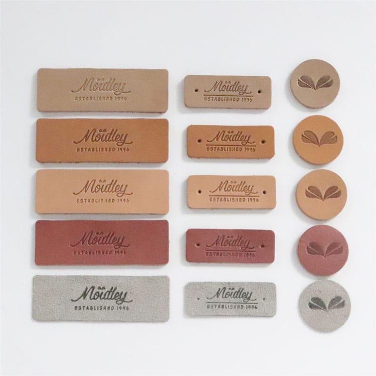 DOYLabel Wholesale Custom Logo Embossed Genuine Label Tags for Jeans